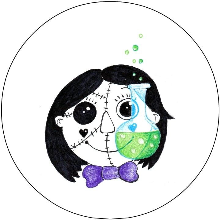Image of Natty Flask Floating Head Sticky