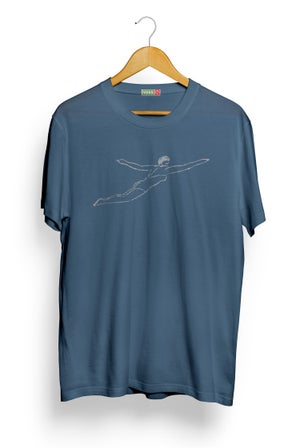 Image of Swimmer Tee - Indigo