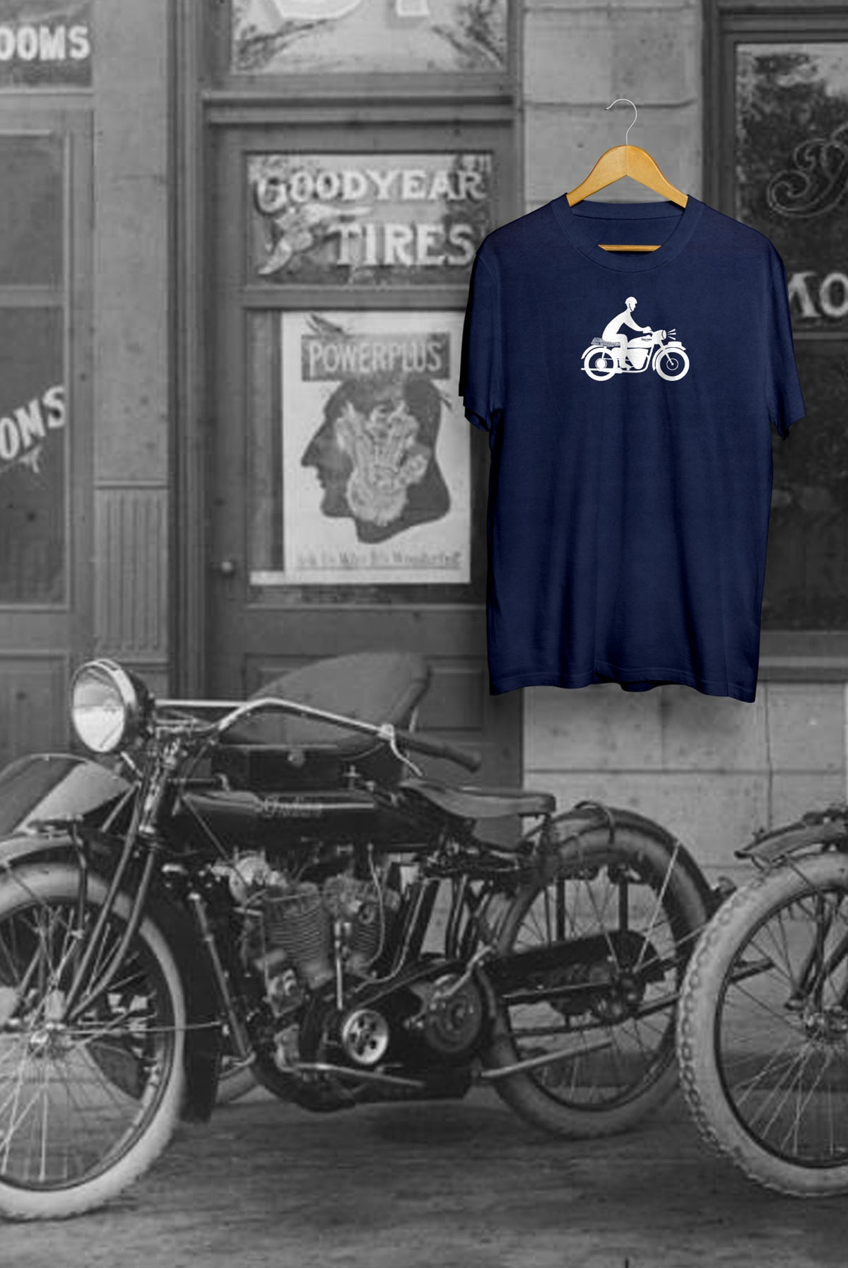Image of Motorbike Tee - Navy