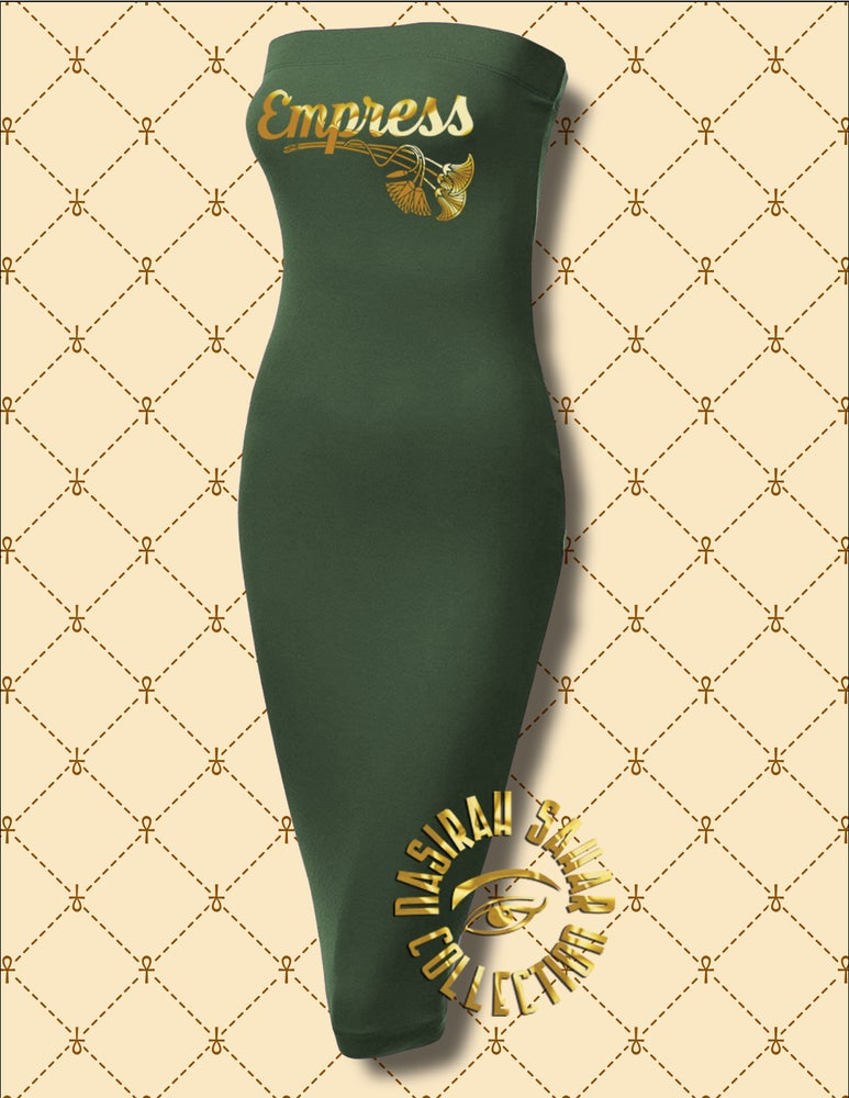 Image of NASIRAH SAHAR COLLECTION® EMPRESS STRAPLESS BODYCON DRESS