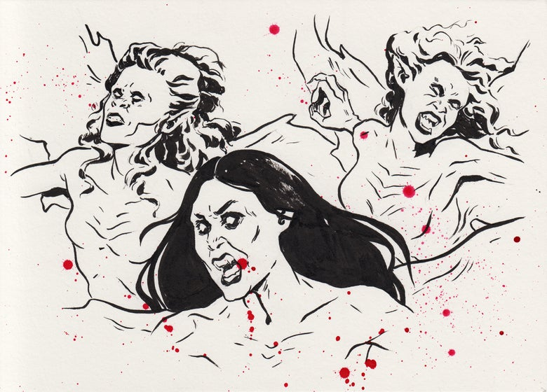 Image of Inktober 2018 - Brides of Dracula