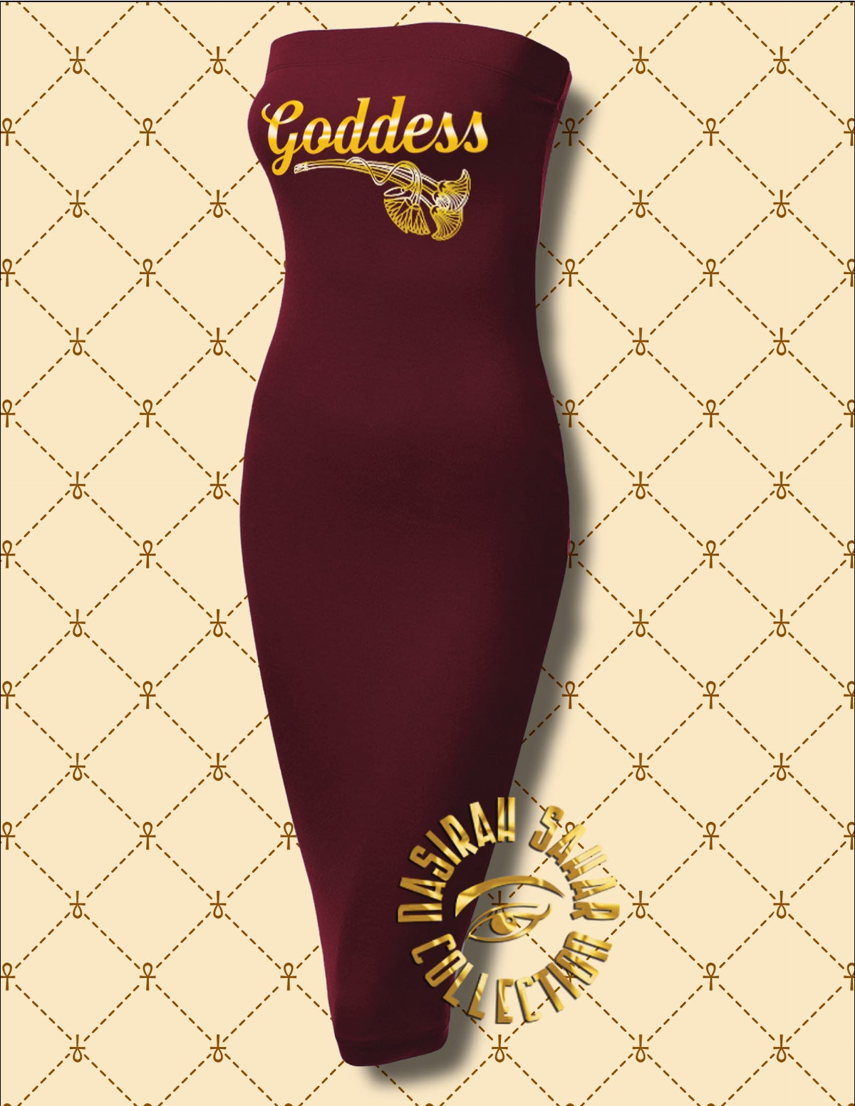 Image of NASIRAH SAHAR COLLECTION® GODDESS STRAPLESS BODYCON DRESS