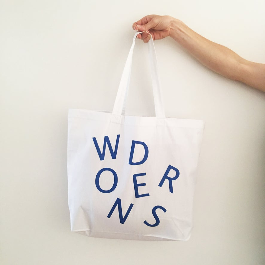 Image of 'Wonders' Premium cotton beach tote