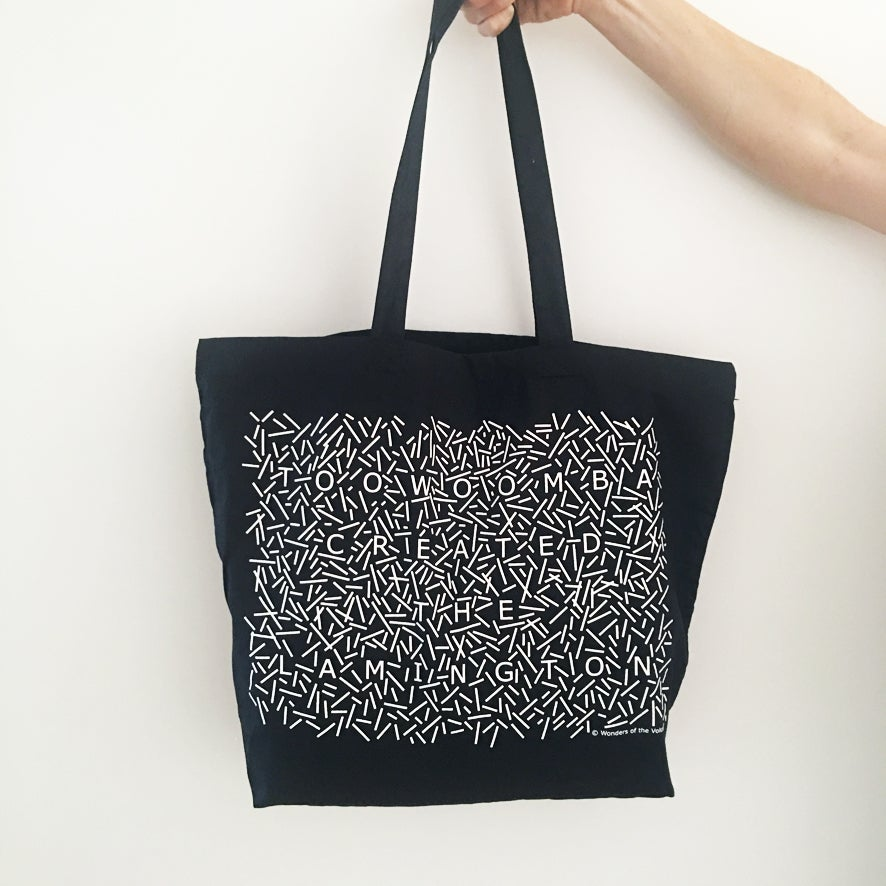 Image of 'Toowoomba created the lamington' premium cotton maxi tote