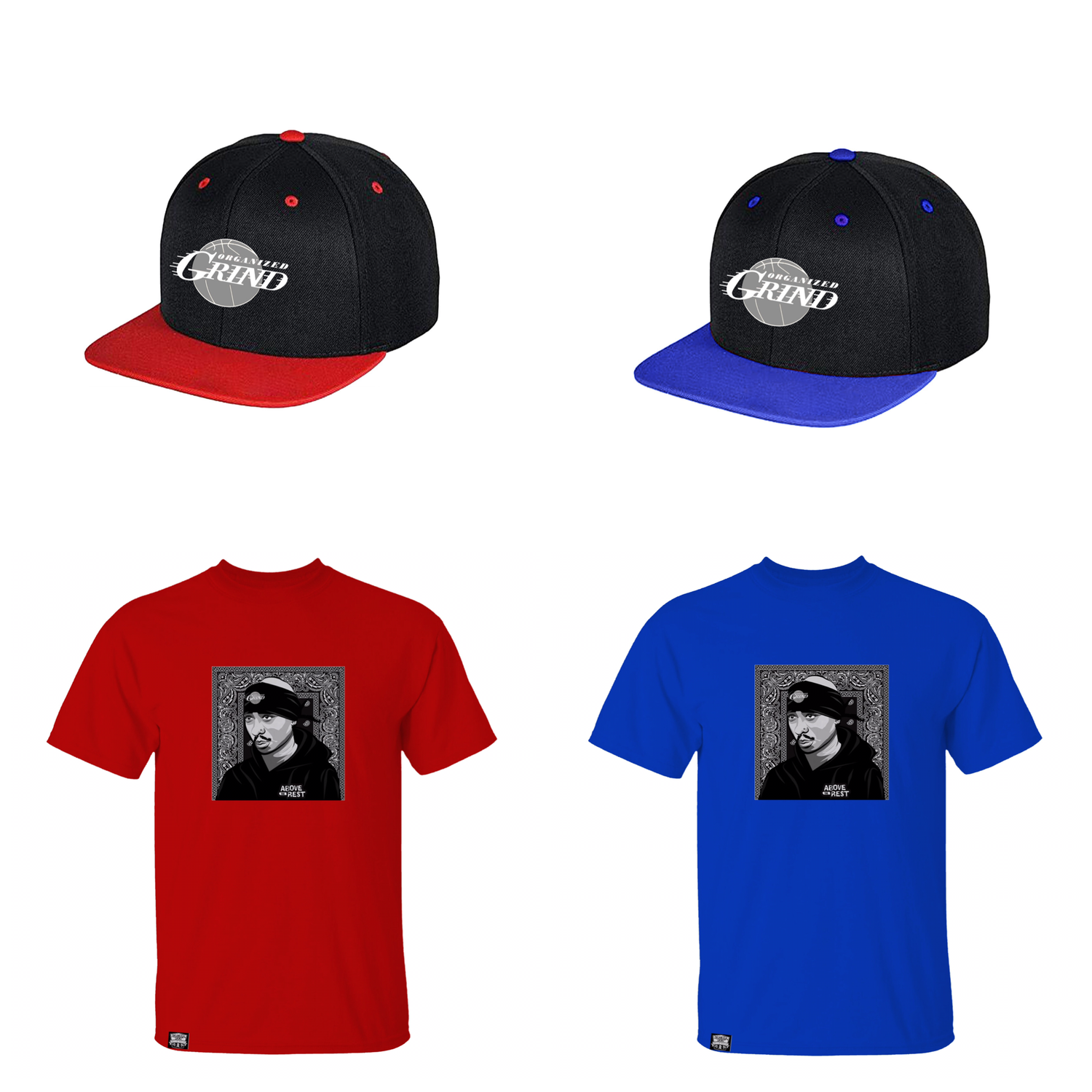 "Image of New 2Pac ""Above the rest"" T Shirts & Snapbacks"