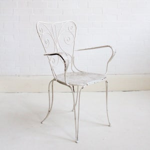 Image of French metal garden chair