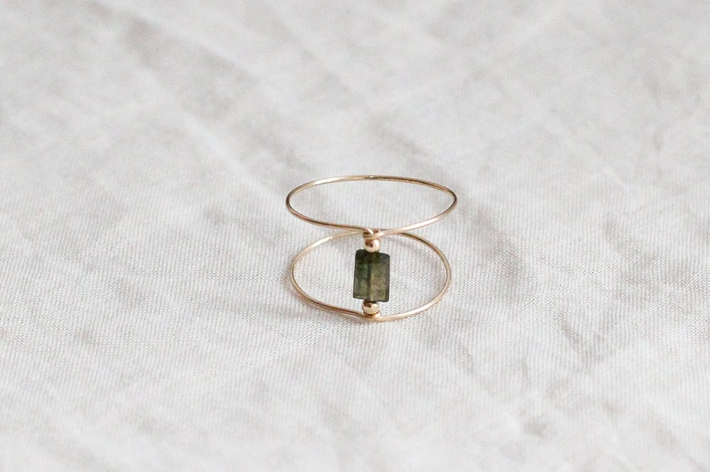 Image of Bague Meluna Double // Green Tourmaline