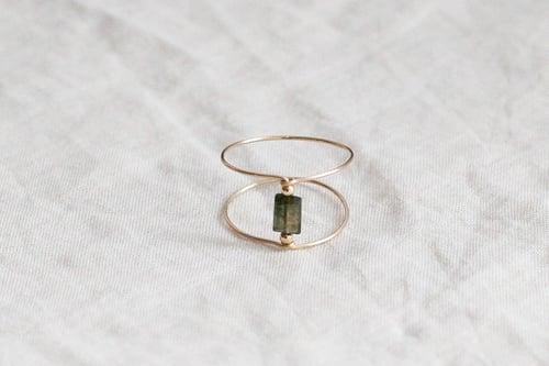Image of Bague Meluna Double // Green Tourmaline