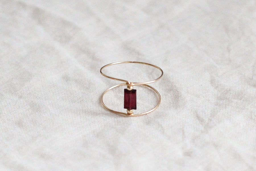 Image of Bague Meluna Double // Garnet