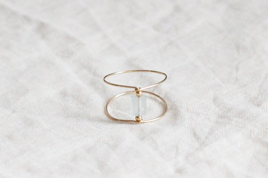 Image of Bague Meluna Double // Aqua Marine