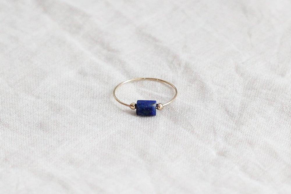 Image of Bague Meluna // Lapis Lazuli