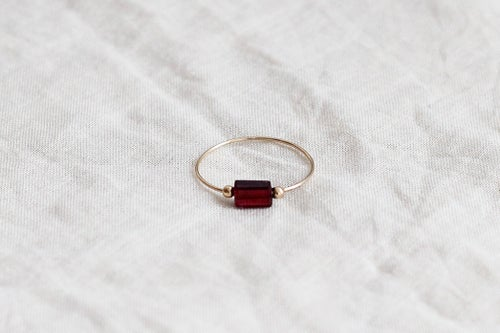 Image of Bague Meluna // Garnet