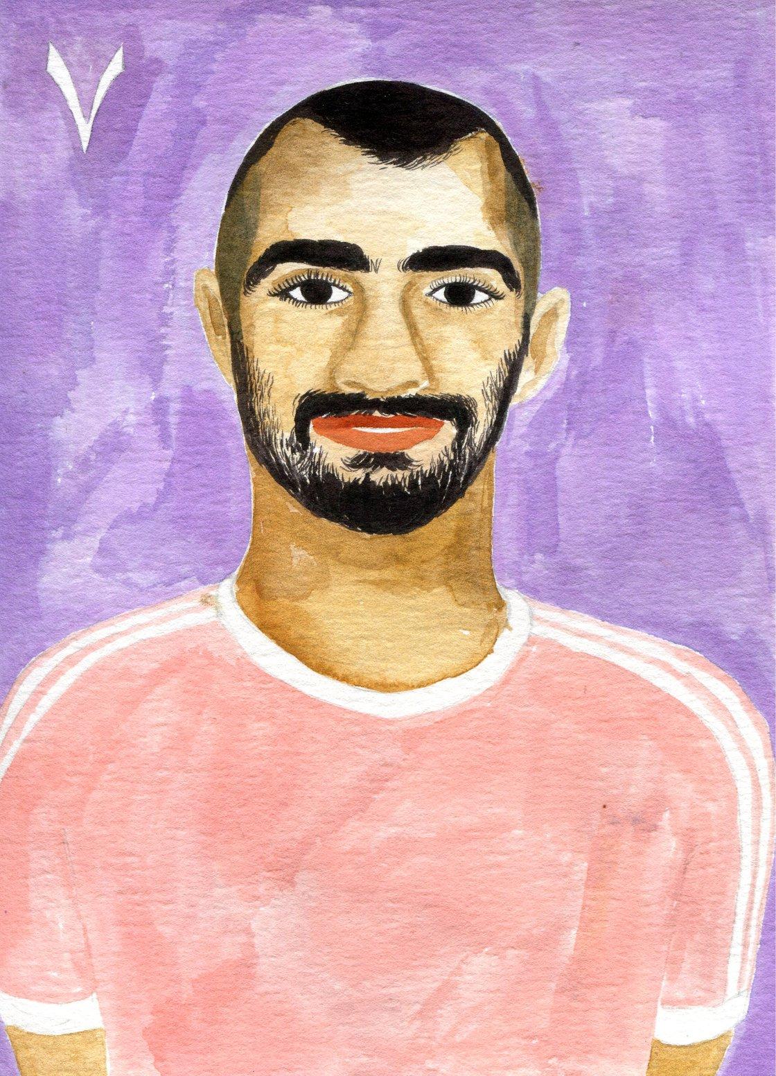 Image of Karim - art print - A5