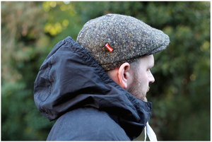 Image of 'NOODLES' CAP [DONEGAL TWEED]