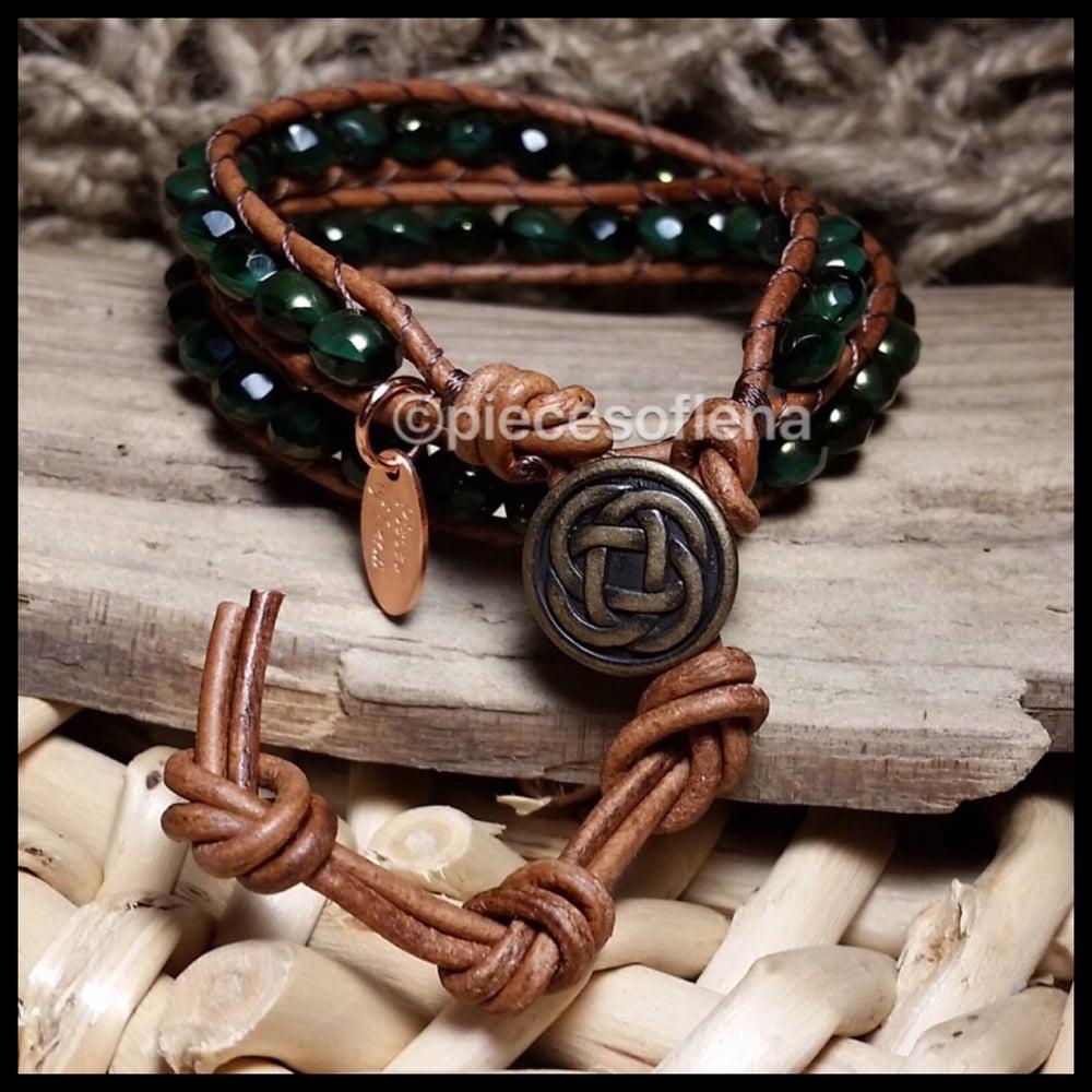Image of Double Wrap Bracelet - Evergreen Celtic