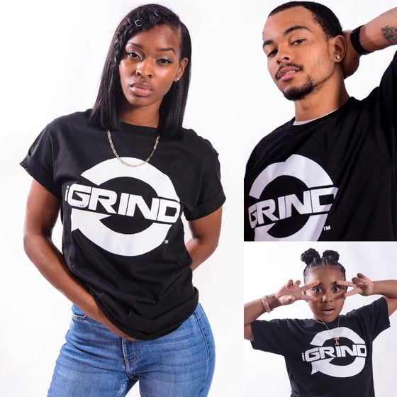 Image of iGRIND BLACK T-SHIRT