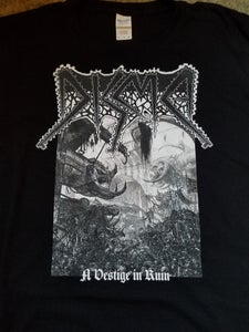 Image of DISMA - A VESTIGE IN RUIN BLACK T-SHIRT