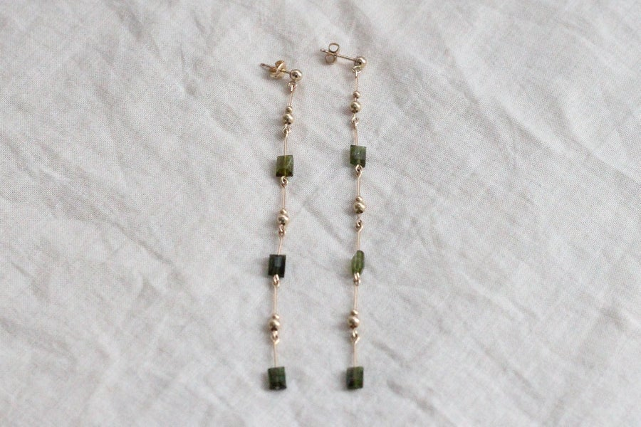 Image of Boucles d'oreilles Meluna Green Tourmaline