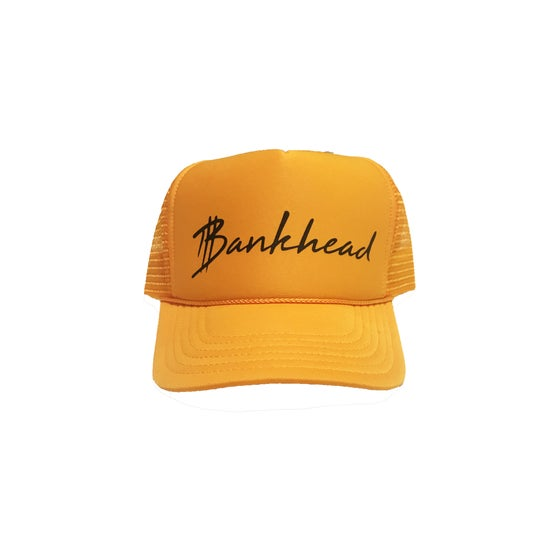 Image of Gold signature Bankhead trucker hat