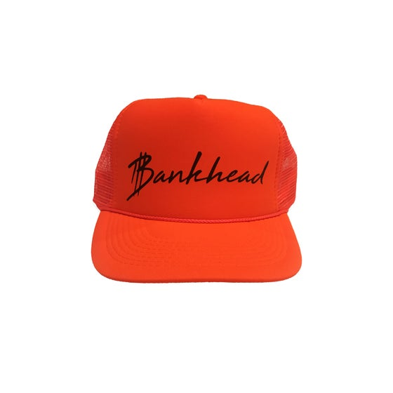 Image of Neon Orange signature Bankhead trucker hat