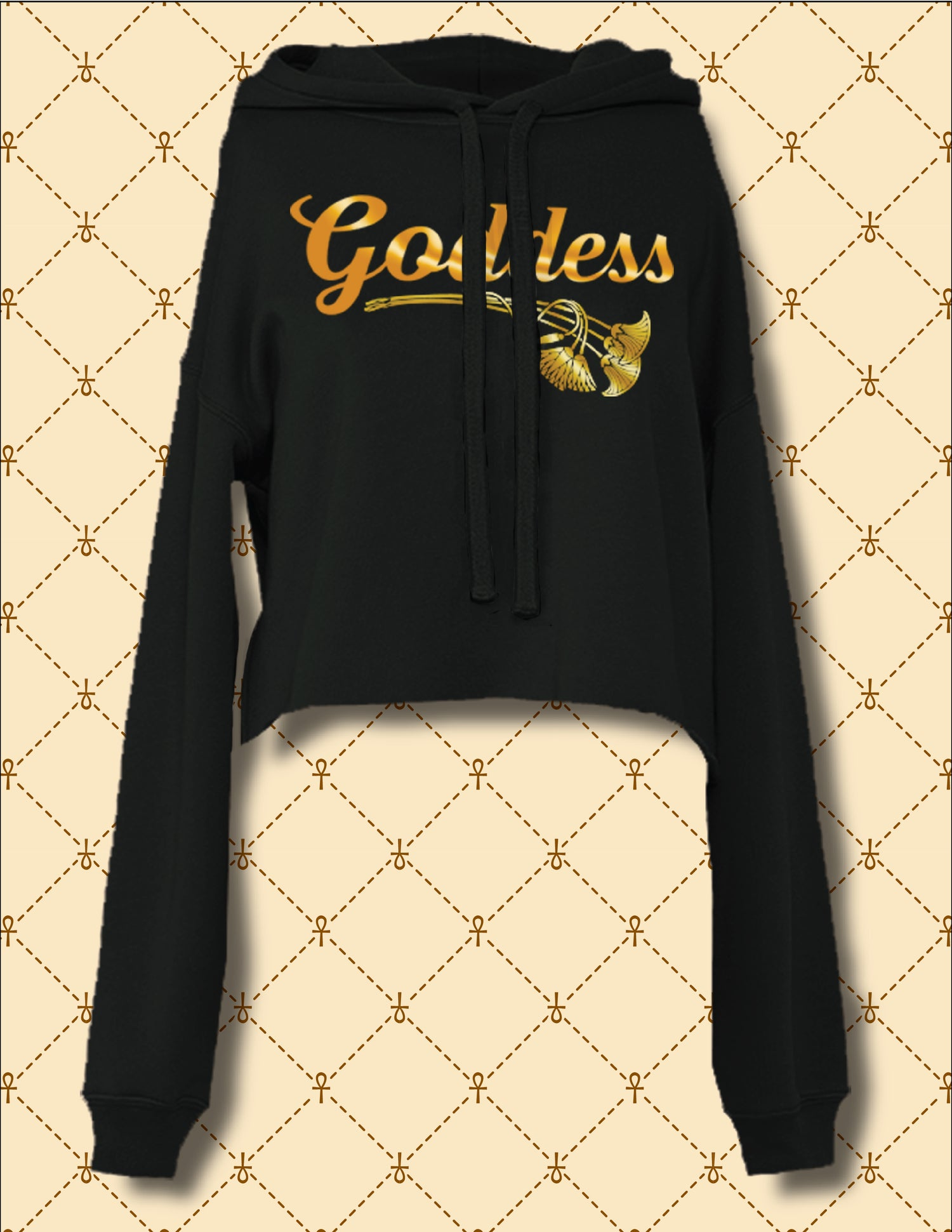 Image of GODDESS CROPPED PULLOVER HOODIE
