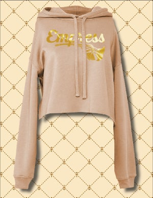 Image of EMPRESS CROPPED PULLOVER HOODIE