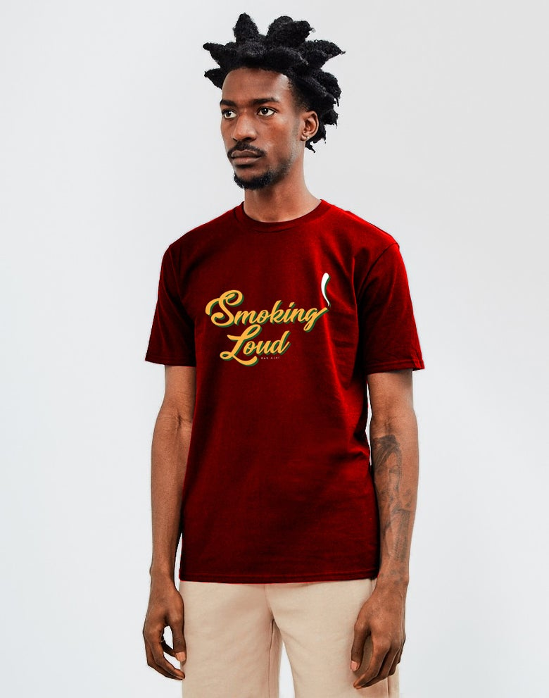 Image of Smoking Loud T-Shirt Red