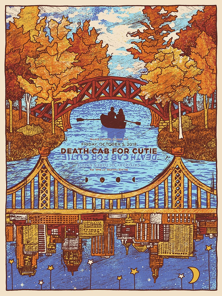 Image of Death Cab For Cutie - Main Show Poster