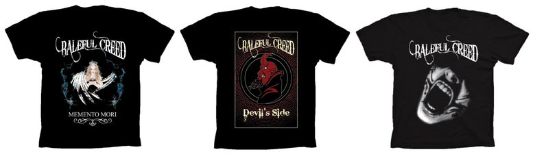 Image of Baleful Creed T-shirt (Choose design in dropdown box)