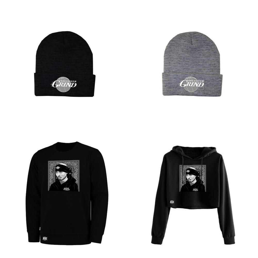 "Image of New 2Pac ""Above The Rest"" Sweaters & Beanies"