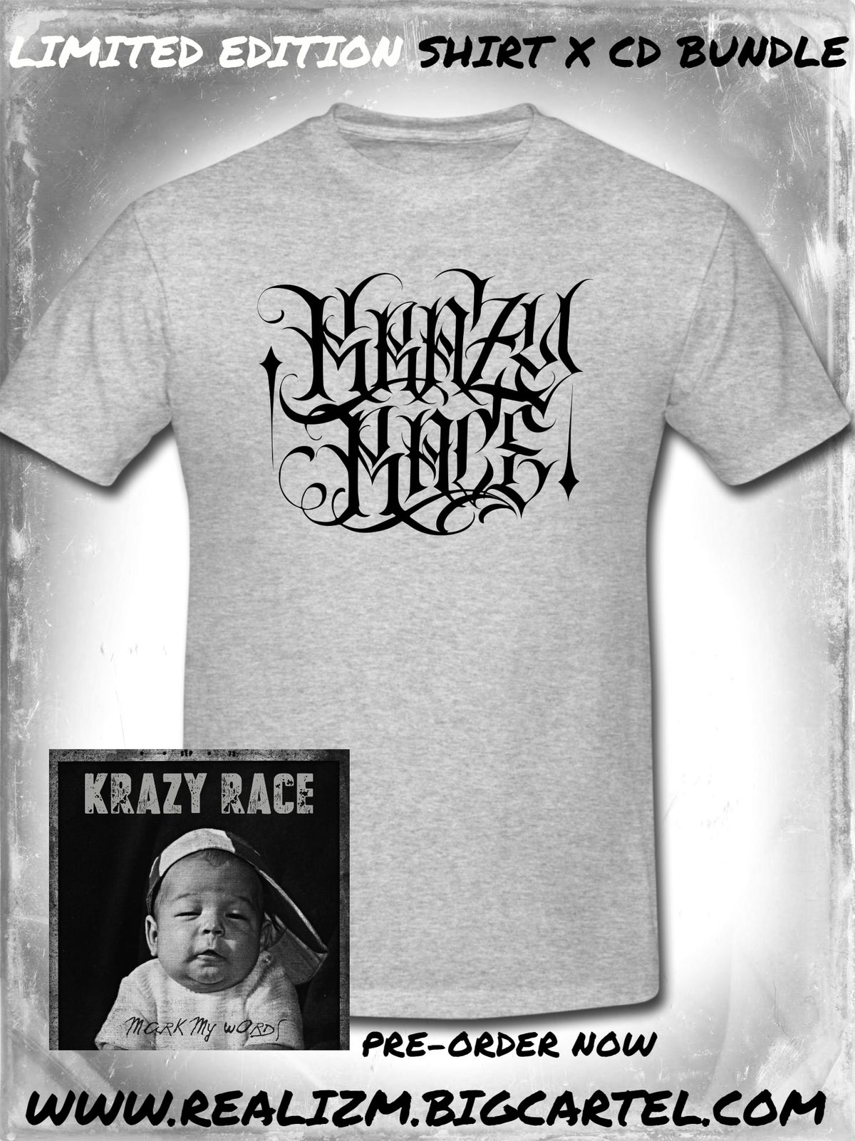 Image of Limited Shirt & New Krazy Race CD Bundle