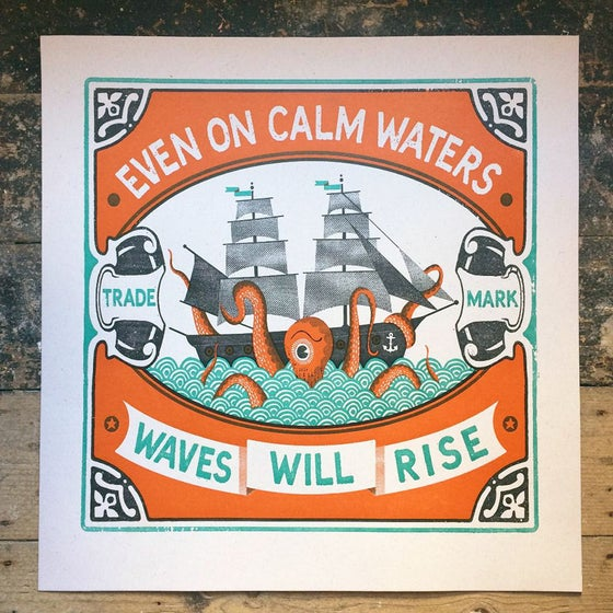 Image of Calm Waters Letterpress