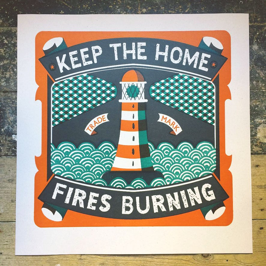 Image of Home Fires Letterpress