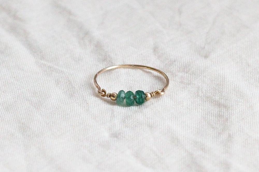 Image of Bague Saphira // Saphir vert