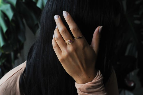 Image of Bague Wire // Pink Saphire