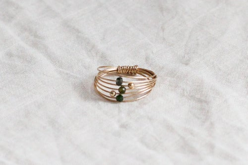 Image of Bague Wire // Green Tourmaline
