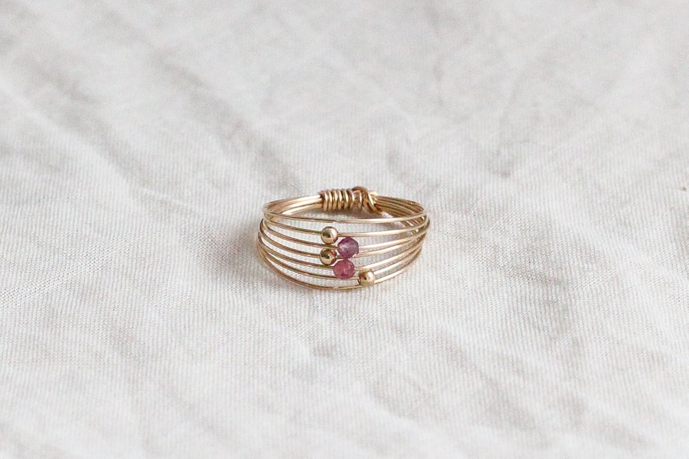Image of Bague Wire // Pink Tourmaline