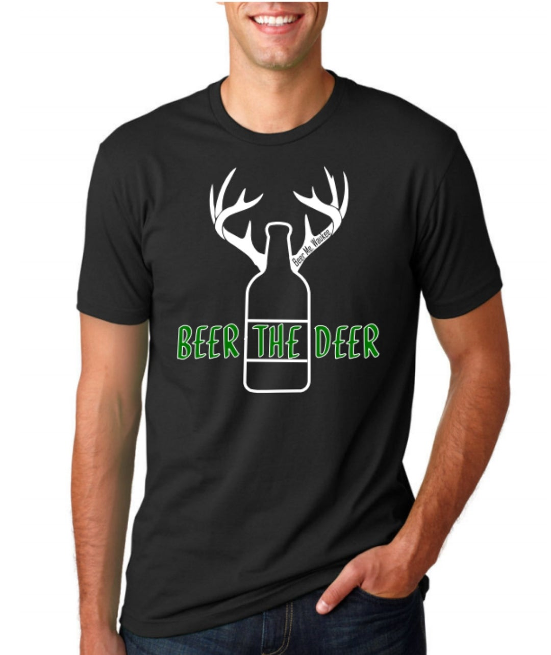 Image of Beer The Deer - Black Tee