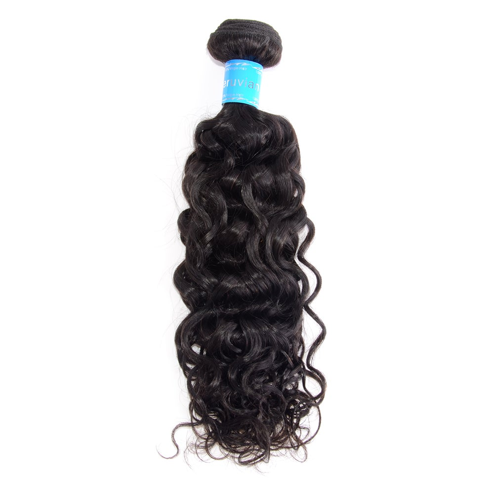 Image of 10-30 Inch Italy Curly Virgin Peruvian Hair #1B Natural Black