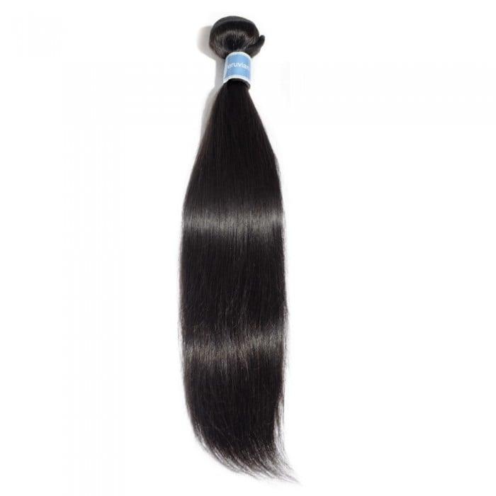 Image of 10-30 Inch Straight Virgin Peruvian Hair #1B Natural Black