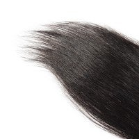 """Image of 10-20 Inch 4"""" x 4"""" Straight Free Parted Lace Closure #1B Natural Black"""