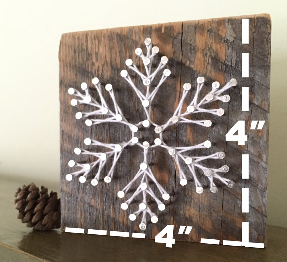 Image of Snowy snowflake block