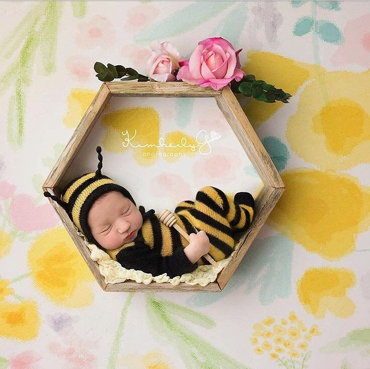 Image of Little Bumble Bee  Jammy Onesie & Bonnet Set
