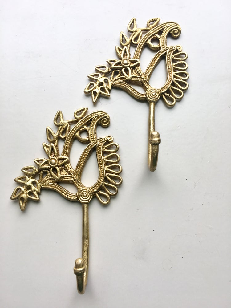 Image of Paisley Brass Hook