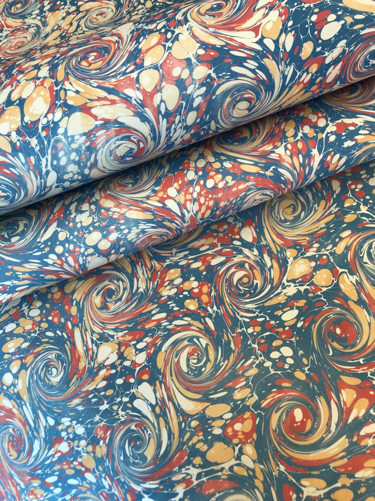 Image of Marbled Paper #47 Antique style curl