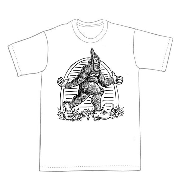 Image of Bigfoot Walking T-shirt **FREE SHIPPING**