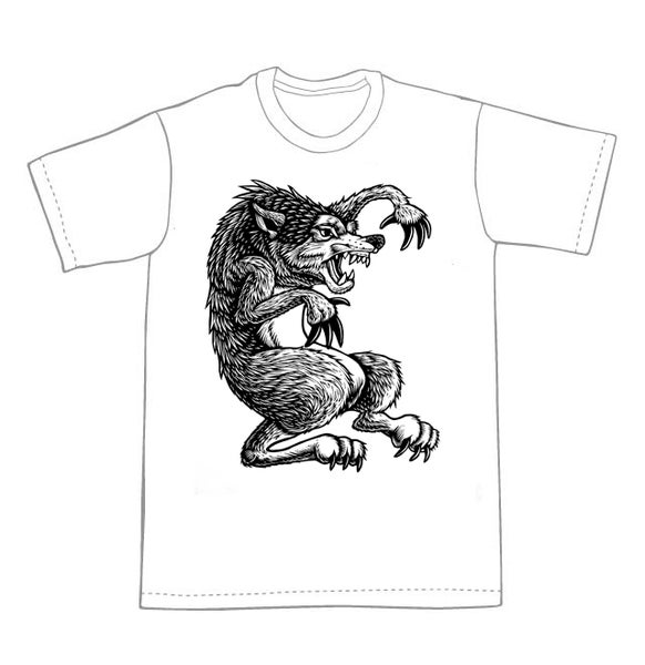 Image of Werewolf T-shirt **FREE SHIPPING**
