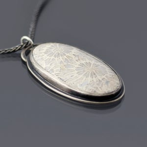 Image of Sterling Silver and Fossil Coral Necklace