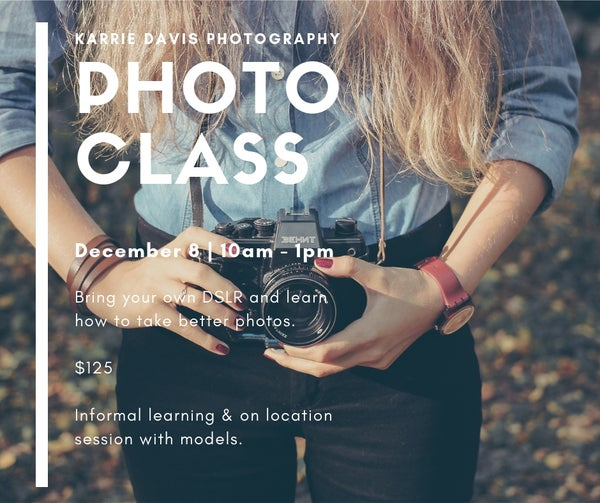 Image of KDP Photo Class- 12/8/18