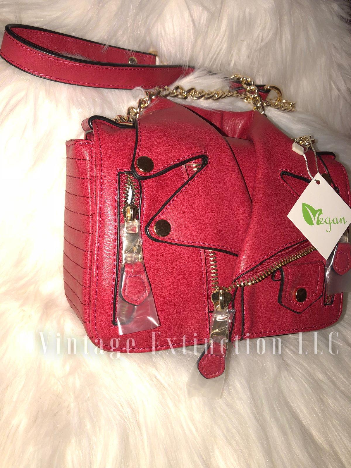 Image of Vegan Leather Motorcycle Jacket Bag